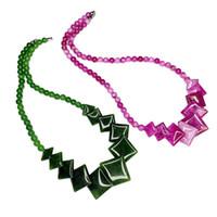 Mode Böhmische Schmuck Drop Anhänger Halskette Für Frauen Stein Kristall Perlen Kurze Kragen Kette Halsketten Geschenkzubehör B512 Chokers