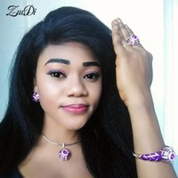 Earrings & Necklace ZuoDi Dubai Gold Colorful Jewelry Set Nigerian Wedding Woman Wholesale Saudi Bracelet Earring Ring
