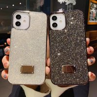 Bling bling shiny phone cases cover for iPhone 12 diamond shinning powder black edage hot selling new arrival case