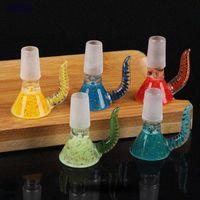 Красочные стеклянные толстые слайд-чаши 14 мм 18 мм чаши трубки женские мужские совместные нефтяные ручка горелки для куриновых труб для курения Bong