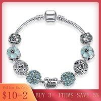 Sterling 4 Perle di colore Charms Donne Braccialetti Braccialetti per accessori per gioielli B021 in rilievo, fili