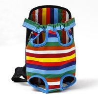 Bolsa de perros de cachorro Bolsa de la portadora de mascotas, mochila de hombro de malla transpirable para pequeños gatos medios Chihuahua Juego de viajes al aire libre 676 R2