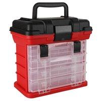AD-4-Schicht Tragbare Karpfenangeln Tackle Boxen Rolle Linie Lure Werkzeug Aufbewahrungsbox Zubehör
