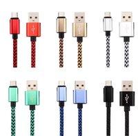 Micro USB-Aufladung Fast Charger Kabel Premium Nylon Geflochtene Typ C Kabel-Datenkabel für Android-Telefon Samsung S7 S8 S10 S21 S20 S20 Huawei LG TCL Nokia Xiaomi 7 8 9 11 12 13