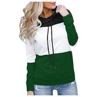 Autumn Cross Border Women's Wear Pullover Long Sleeve Hoodie Color Block Top Casual Sweatshirt Coat Hoodies & Sweatshirts