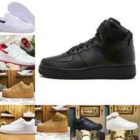 Toptan 2021 Yeni Tasarımcılar Açık Erkekler Düşük Kaykay Ayakkabı Ucuz Bir Unisex 1 Örgü Euro Airs Yüksek Kadınlar Tüm Beyaz Siyah Spor Ayakkabı V91