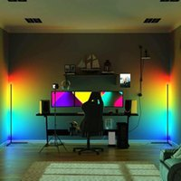 Floor Lamps 142cm Stitching Style Home Decor Modern Color Light RGB Remote Led Corner Lamp Atmosphere Standing For Bedroom