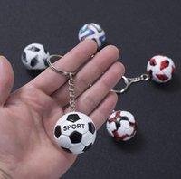 100pcs 2021 Tazas europeas Mini Fútbol Llavero Charm Bolso Colgante Copa del Mundo Souvenir Llaveros para los fanáticos de los niños Regalos de cumpleaños HYS87-9