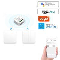 스마트 홈 컨트롤 433MHz 라이트 스위치 LED 푸시 버튼 범용 무선 원격 릴레이 컨트롤러 램프 스위치 도매