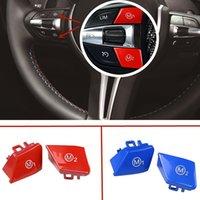 ABS Plastic Car Steering Wheel M1 M2 Mode Button Decorative Cover Stickers Fit For BMW M3 M4 M5 M6 X5M X6M F10 F15 F16 F30 F34 F36 Auto Accessiores