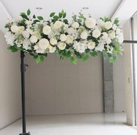 50 cm flor artificial fila acanthosfera peonía rosa hortensia eucalyptus planta mezcla arco decorativo decoración decoración flores casero fiesta decoración