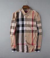 럭셔리 디자이너 패션 캐주얼 셔츠 비즈니스 브랜드 봄과 가을 슬리밍 셔츠 가장 유행 의류 # 12