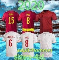 Tamanho: S-4XL 2021 Espanha Futebol Jerseys Morata Isco Asensio Thiago Keke Saul Carvajal Pique de Gea 20 21 Jogador de Futebol