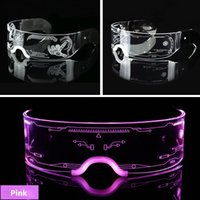 Night Light Cyberpunk Futuristic Technology Sense Glasses Sci-fi Led Bungee Ins Male Net Red Female Bar Glowing Sunglasses