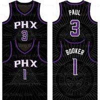 "2021 2022 Devin 1 booker Basketball Jersey Chris 3 Paul Deandre 22 Ayton Phoenix ""Soleils"" Jerseys Kevin 21 Garnett Black City Giannis 34 Antetokounmpo Ray Hommes Allen"