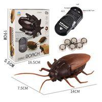خدعة كهربائية صرصور الحيوانات الأليفة rc محاكاة العنكبوت الروبوتية التحكم عن النمل لعبة هالوين عيد الميلاد مصغرة هدية للبالغين المزحة الحشرات 210326