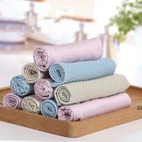 Haushalt verdicken Reinigungstücher Massivfarbe doppelseitig sauberes Handtuch reiben fenster glas rag hotel küchen teller reinigungstuch hwwe9258