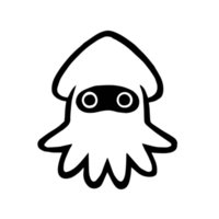 A-0378 Cute Cartoon Squid Modeling Personalized Car Stickers PVC Auto Motorcycle Windshield Bumper Cover Scratches Decals Decor
