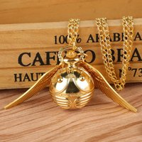 Pocket Watches Luxury Golden Watch Ball Sweater Pendant Quartz Necklace Lovely Cute Fob Chain Clock For Boys Girls Kids