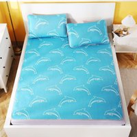 Sheets & Sets Summer Printed Thin Mattress Set Includes Case For Sleep At Home Or Air-Conditioned Room Family Sheet