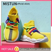 new boys and girls breathable children's shoes casual soft non-slip running sneakers lightweight baby toddler knitted socks boot H0917