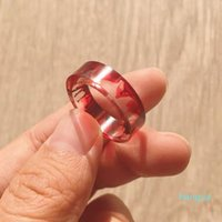 Simple and Fashionable Ink Original Ice and Flame Halo Dye Resin Ring Punk Creative Engagement Ring Jewelry for Men and Women