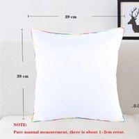 40x40cm Sublimação DIY Travesseiro Case Transferência de Calor Printing Pillowcase Almofada Poliéster Pillowslip Free Ship FWD7341