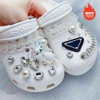 Trendy Retro Strass Croc Designer DIY Qualität Frauen Schuhe Charme Für Jibz Tierkette Clogs Schnalle Kinder Mädchen Geschenke