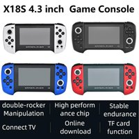 X18S 4.3 inch Retro Handheld Game Console Double Joystick Support AV Output MP4 Player TF For PS1 GBC MD Best Gift
