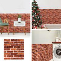 DIY Brick Stone Self Adhesive Waterproof Wall Paper 30*30cm 3D Wallpaper Stickers Home Decor Kitchen Bathroom Living Room Sticker AHA5540