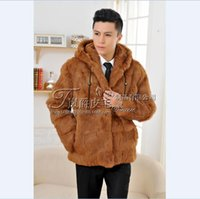 Men's Leather & Faux And Autumn Winter Men Fur Coat On Sale Clothing Plush One Warm Of Cultivate Morality