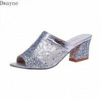 Zapatillas frescas para mujer 2020 Primavera y verano Nuevas Sandalias de boca de hilo neto sexy con huecos de gran tamaño zapatos para mujer zapatos de moda pies felices sl c3hk #