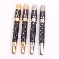 Limited edition Elizabeth Black Golden Silver engrave Rollerball pen Fountain pens Diamond inlay Cap Business office supplies with Serial Number High quality