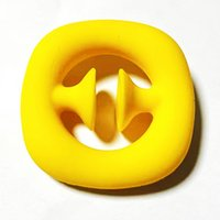 Party Favor Small Gift Yellow Fidget Grab Snap Squeeze Toy Simple Dimple Silicone Sensory Hand Grip Toys