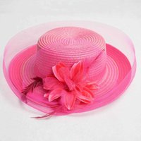 Filet de fleur de gazon de gaze, chapeau de pare-soleil, chapeau de crème solaire de l'organza plage