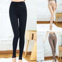 Moda Katı Sıcak Kış Sıkı Kalın Kadife Yün Kadın Kaşmir Pantolon Pantolon Yoga için Tayt # 40 Kıyafetler