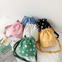 Fashion Trend Women Summer Cute Daisy Pattern Crossbody Bag Messenger Shoulder Handbags Ladies Stylish Bucket Purse