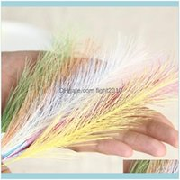 Festive Party Supplies Garden Decorative & Wreaths 50Pcs Household Decor Artificial Fake Flowers Natrual Dried Pampasgrass Flower Home El We