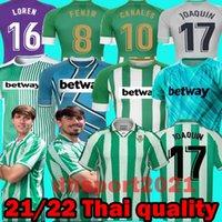 21 22 Real Betis Football Jersey Joaquin Loren Boudebouz Bartra 2021 2022 الصفحة الرئيسية Thouse 3rd 4th Training Suit Unitive Edition Fekir 8 Man + Kids