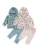 Clothing Sets Infant Baby Girls Clothes Set, Leopard Print Long Sleeve Hooded Tops+Solid Color Trousers With Pockets 0-3Y
