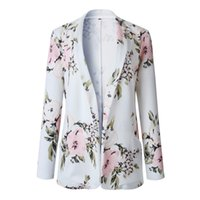 Women Suits 2021 Summer New Ladies Long Sleeve Print Pocket Small Suit Jacket Office Lady Suit Slim Blazers Clothing Womens Jackets Coats