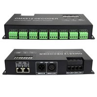 High Power 24 Channel 3A / CH DMX LED-styrenhet 512 Avkodare Dimmer Driver DC5V-24V för RGB-remsa eller lampor JK1665-styrenheter