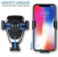 Q12 10W Fast Wireless Ladegerät Car Mount Air Vent Gravity Phone Halter kompatibel für iPhone 8 11 12 xr Samsung