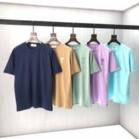 2021 아미 남성용 착용 디자이너 패션 섹시한 소년 티셔츠 편안한 통기성 코튼 짧은 MS 여성 디자이너 브랜드 남성용 T 셔츠 고품질
