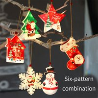 2021 Christmas Tree decoration Pendant Snowflake Five-pointed Star Shape LED Lights hHousehold Goods Fairy Lamp Garden Window Bedside Living Room Holiday Gift