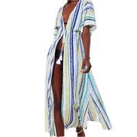 Swimwear Mulheres Banheira de Praia Tecto Robe Kaftan capa de maiô para plus size tunics up verão beachwear nadar algodão