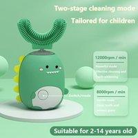 Escova inteligente escova de dentes inteligente infantil inteligente Sonic U-em forma de U-em forma de clareamento antibacteriano clareamento de dentes fixo limpeza de dentes de voz