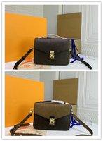 Diseñador de lujo Pochette Metis Mm Bolsa de hombro inversa M40780 Crossbody Bolsa Pochette Metis MM 2Way Bolsa de mano Tamaño: 25 x 19 x 9cm