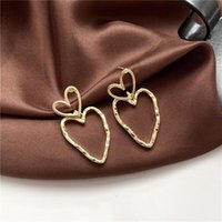 Stud Fashion Temperament Contracted Elegant Earrings Metal Hollow Out Sweet Love Shape Jewelry Accessories