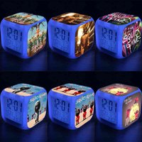 Squid Game Alarm Clock LED Colorful Color Changing Clock Children's Student Night Light Gift Square Clock Luminous Number Alarm Clocks gifts G01TPTC